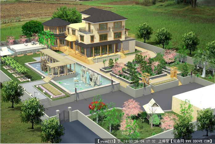 韩式别墅及庭院景观设计模型