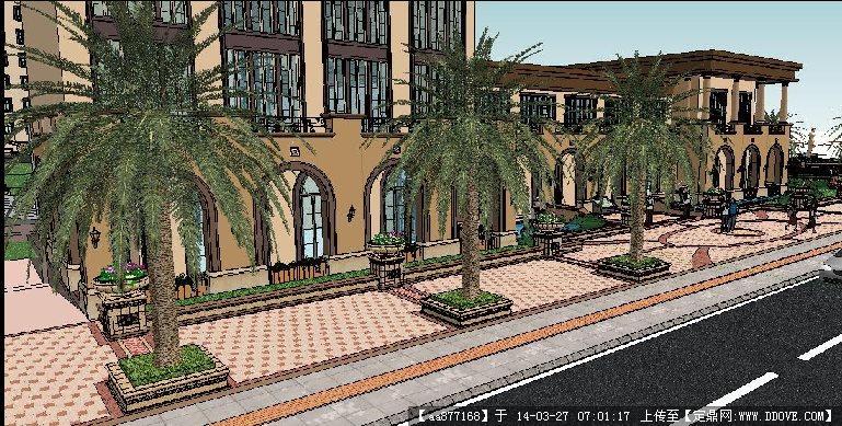 灰暈風格——售樓部景觀su精致設計模型