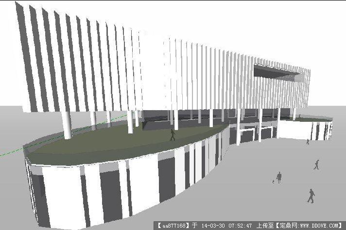 光谷展示中心su精致设计模型