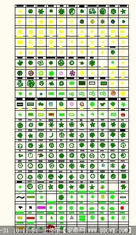 cad版绿化景观植物平面图