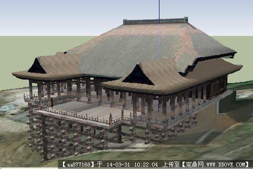 日式干栏式结构su精致设计模型
