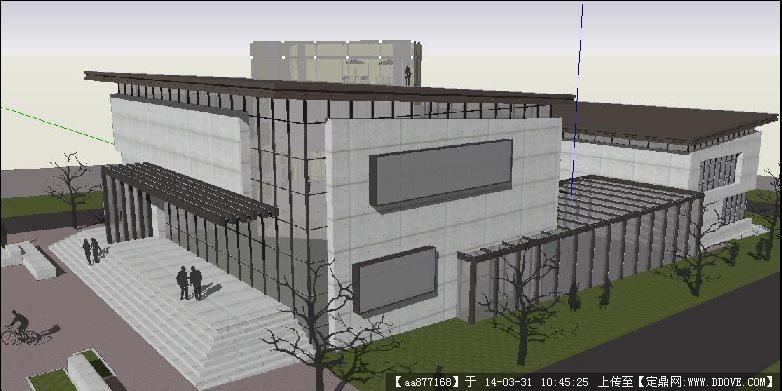 风格化会所建筑su精致设计模型