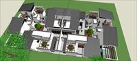 Sketch Up 精品模型---中式合院别墅
