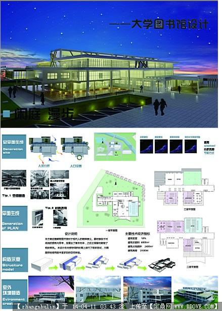 图书馆建筑设计展板