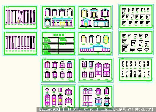 各式各风格线条图案cad-欧式建筑构件.dwg