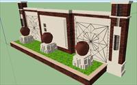 景墙SU(草图大师)精致设计模型