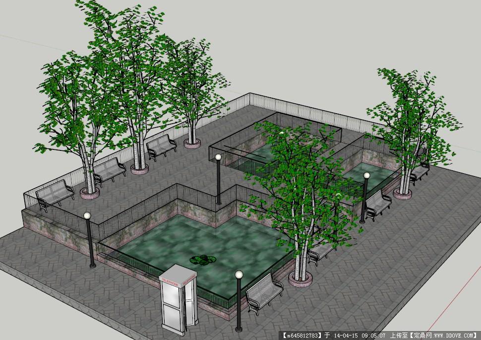 景观模型---公园休息区模型