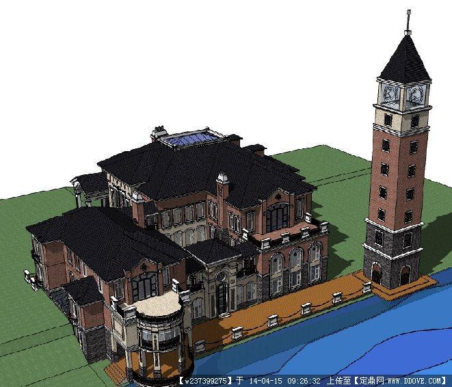 su欧式别墅模型的下载地址