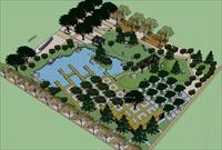 Sketch Up 景观模型---学生广场景观模型