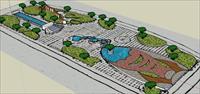 Sketch Up 景观模型---学生作业广场景观模型