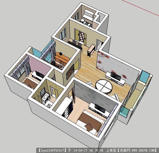 室内su模型的下载地址图片
