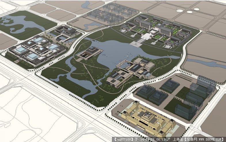 某新区商务区城市设计汇报2012