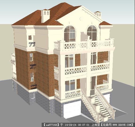 一个欧式别墅非常不错的sketchup模型