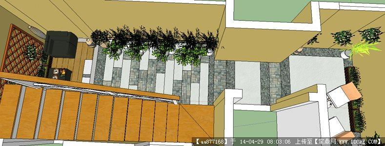 商业街规划su精致设计模型 某psd分层建筑透视图 一张psd分层建筑透视
