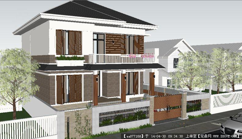 现代别墅su精致设计模型