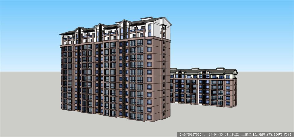 Sketch Up 精品模型---多高层住宅楼