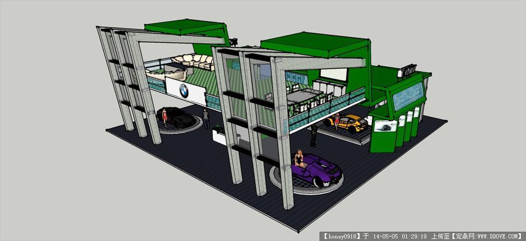 宝马汽车车展 展示设计sketchup