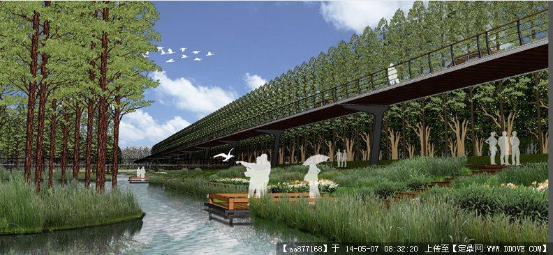 宁波市东部新城生态走廊景观设计——土人