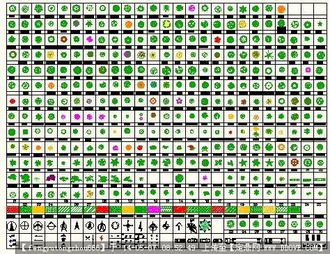 数百种cad平面树图例素材