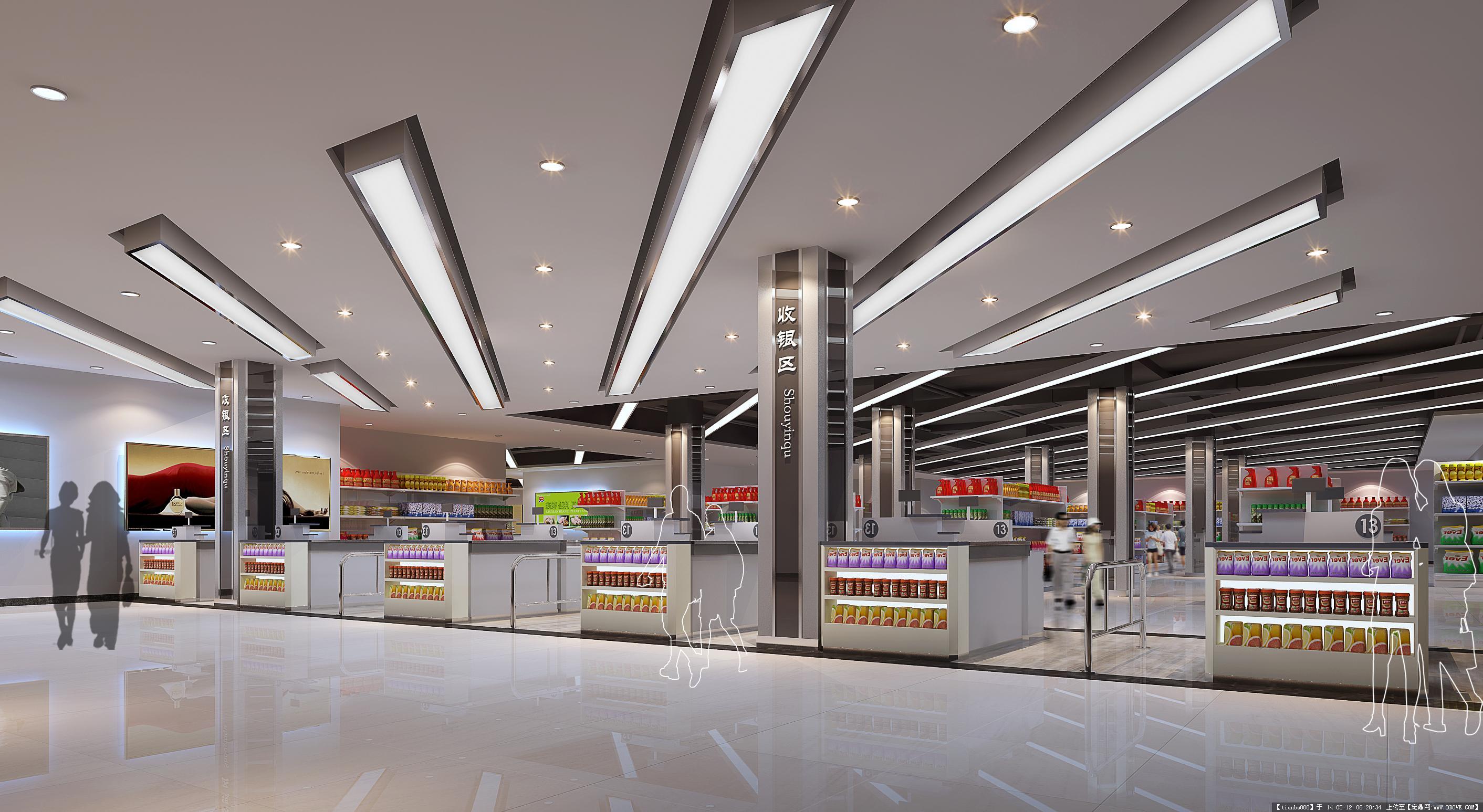 artdeco主入口室内设计素材室内装修效果图模型等资料