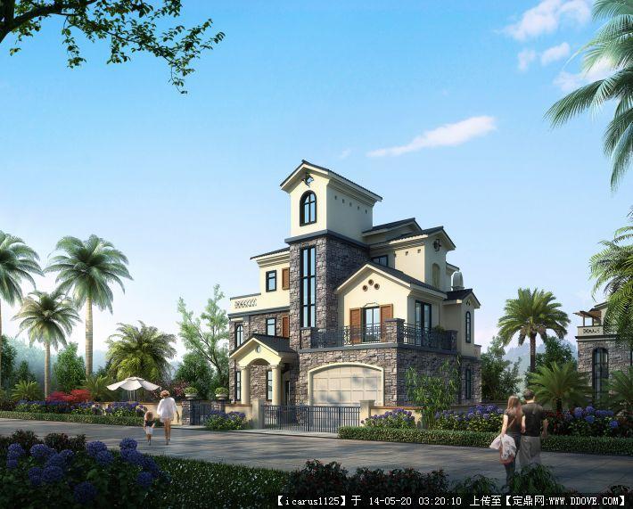 欧式风格别墅su模型的下载地址