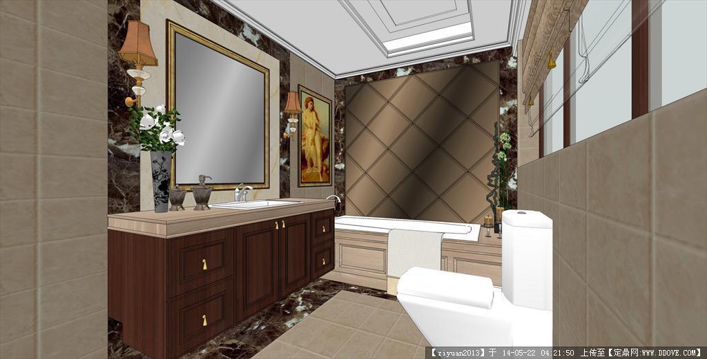 欧式风格样板间卫生间