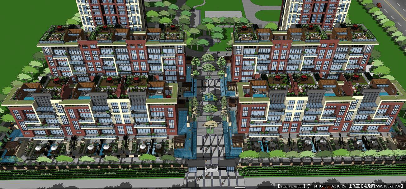 小区建筑设计效果图