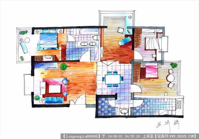 手绘 室内 (高清)007的图片浏览,室内效果图,住宅样板