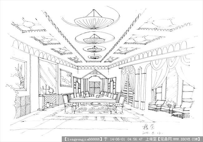 手绘 室内 (高清)008的图片浏览,室内效果图,住宅样板