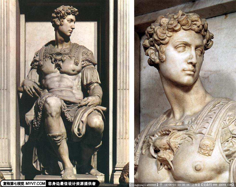 雕塑大师 米开朗基罗 雕塑作品 017
