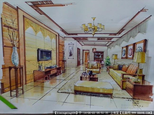 室内设计手绘作品的下载地址