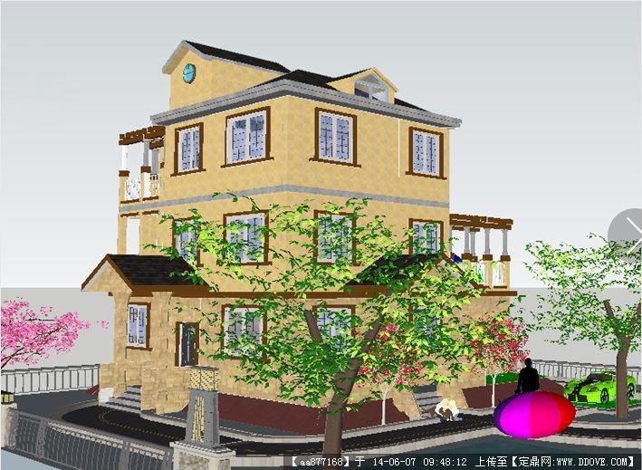 新农村别墅图片大全 外观建筑设计模型