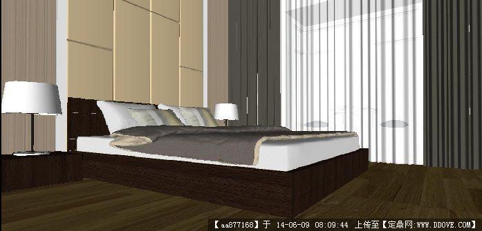 豪华欧式卧室su精致设计模型