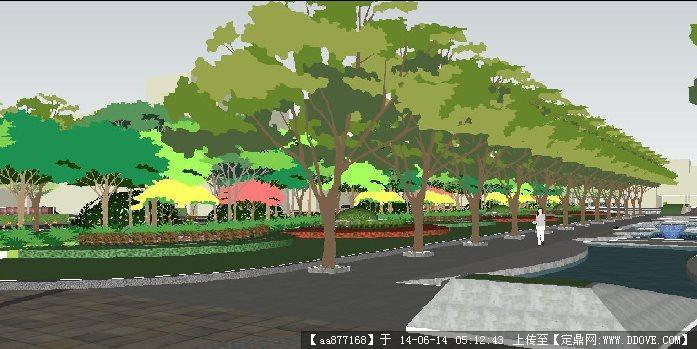 校园景观规划场景su精品设计模型