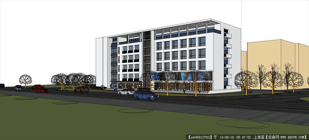 精品模型----现代风格多层办公楼