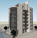 节能环保办公楼SU(草图大师)精致设计模型