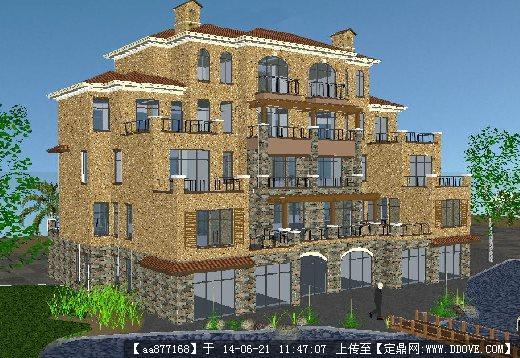 歐式別墅建筑su精致設計模型