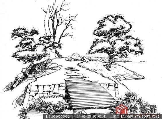 手绘线稿效果图的图片浏览,园林效果图,手绘效果,园林