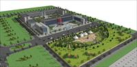 新疆工业园SU(草图大师)规划模型