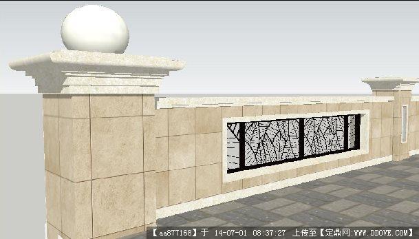 欧式栏杆su精细设计模型