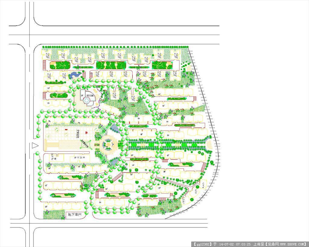 北方居住小区规划设计图纸