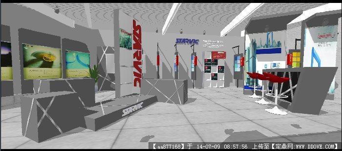 展厅室内设计方案su精美模型