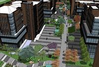 工业园景观规划SU(草图大师)模型