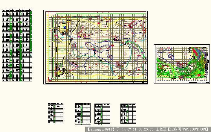 定鼎网 定鼎园林 园林施工详图 种植设计 公园绿化植物施工图  序号
