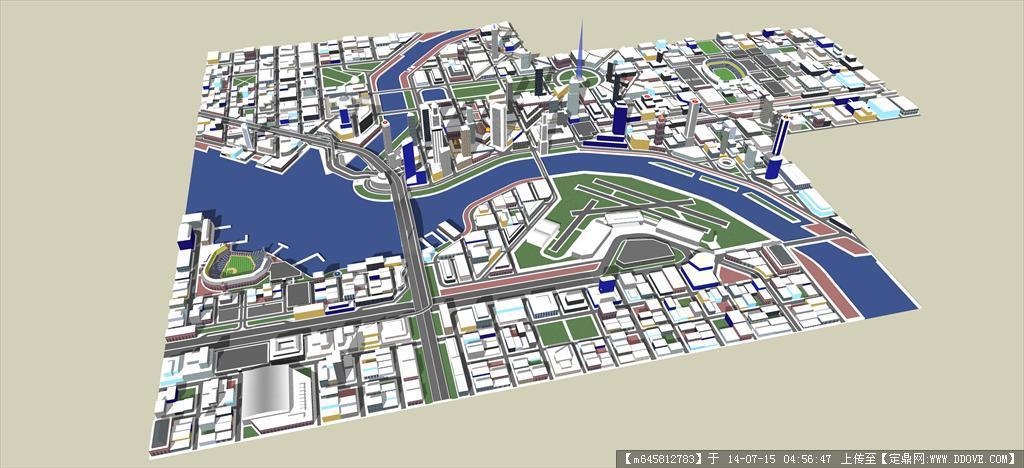 精品模型---某城市规划设计
