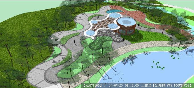 滨水绿地景观设计平面图