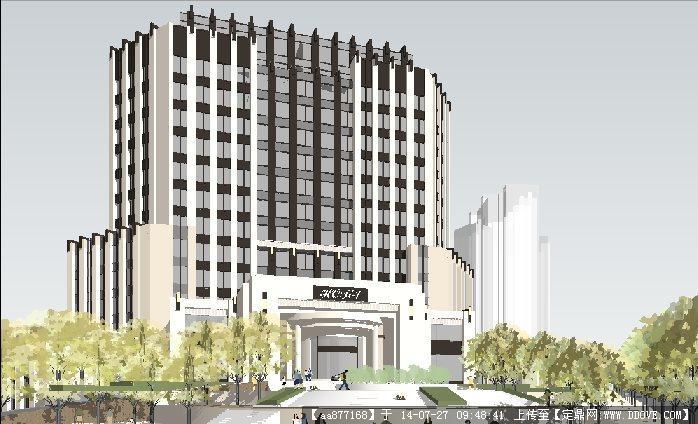 art deco 新古典风格酒店su精细设计模型