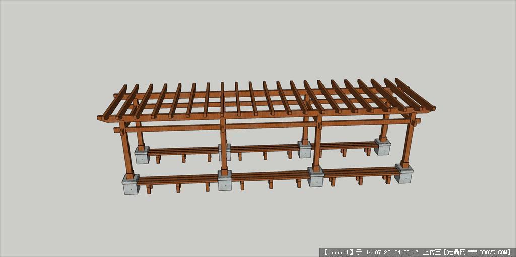 su木花架素材模型