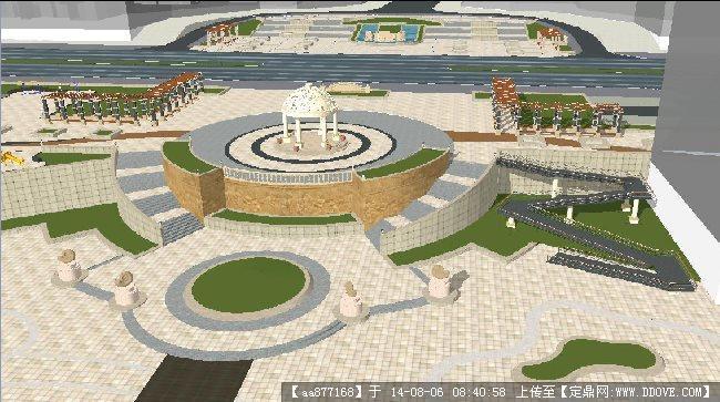 欧式小区景观规划方案su精致设计模型