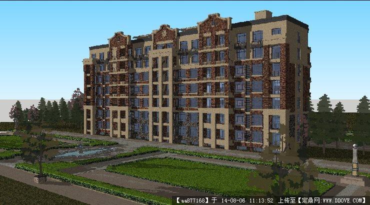 欧式住宅建筑方案su细致设计模型